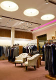 Interior of shop. Of fashionable clothes Royalty Free Stock Image