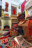 Interior, shop, antique national carpet. Stock Photo