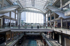 Interior of the Shoppes at Marina Bay Sands Royalty Free Stock Photography