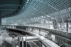 Interior of shopping center at Marina Bay Sands. Royalty Free Stock Photos