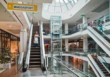 Interior of the shopping center Stock Photos