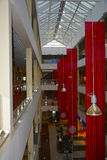 The interior of the shopping center. The interior of a shopping center in Russia royalty free stock images