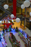 The interior of the shopping center. The interior of a shopping center in Russia royalty free stock photography