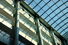 Interior of shopping centre. With a glass roof Stock Photography