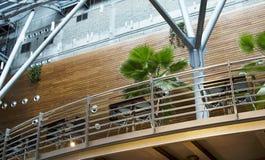 The interior of shopping - entertainment center with modern deco Stock Photos