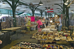 Interior shopping in historic district market of French Quarter of New Orleans, Louisiana Stock Photos