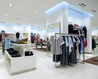 Interior of shopping mall. Interior of modern shopping mall Royalty Free Stock Image