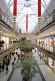 Interior of a shopping mall stock images