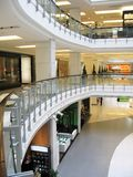 Interior of a shopping mall. Modern shopping mall in Bangkok Stock Images