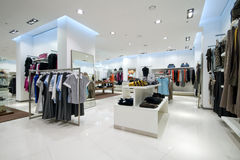 Interior of shopping mall. Interior of a modern shopping mall Stock Photo