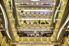 Interior of shopping mall Stock Photos