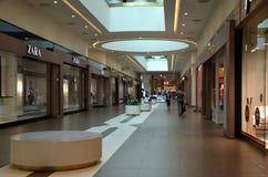 Interior of shopping mall Galeria. Zara store in shopping mall Galeria in St. Petersburg, Russia Royalty Free Stock Photo