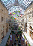 Interior of shopping mall GUM in Moscow Royalty Free Stock Images