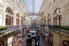 Interior of shopping mall GUM in Moscow Stock Photography