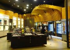 Interior of shopping mall in KL, Malaysia. Kuala Lumpur, Malaysia - Jan 2, 2017. Interior of Suria LCCT Mall in Kuala Lumpur, Malaysia. Kuala Lumpur is a centre Stock Images