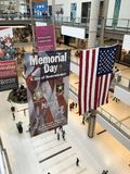 Memorial Day shopping mall Royalty Free Stock Photography