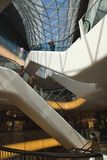 Interior Shopping mall MyZeil in Frankfurt, Germany Royalty Free Stock Image