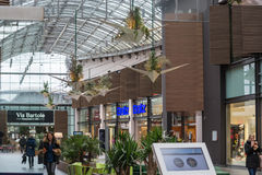 Interior Shopping Mall of the Ruhr Park in Bochum. Bochum, Nrw, Germany - January 11, 2016 Stock Photo