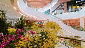 Interior shopping mall Zpell Future Park. Thailand Royalty Free Stock Images