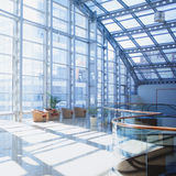Interior of shoppingmall, room with panoramic Royalty Free Stock Image