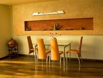 Interior shot of dining room. Interior shot of modern dining room royalty free stock photos