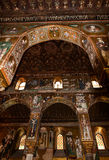 Interior Shot of the famous Cappella Palatina in Sicily Royalty Free Stock Image