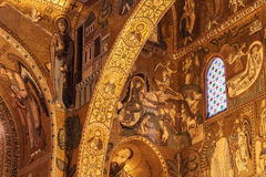 Interior Shot of the famous Cappella Palatina in Sicily Royalty Free Stock Photography