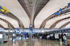 Interior shot inside passenger departure terminal, Kansai International Airport, Osaka, Japan Royalty Free Stock Photography