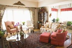 Interior shot of living room. Stock Photos