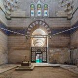Mausoleum of Sultan Al Zaher Barquq wife and daughters at the complex of Al Nasr Farag Ibn Barquq complex, Cairo, Egypt. Interior shot of Mausoleum of Sultan Al Royalty Free Stock Images