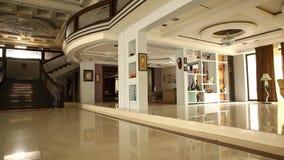 Interior shot of Modern Building stock video