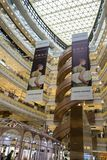 Interior shot of New World Dawan Department Store stock images