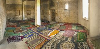 Interior shot of an old mosque in Taif, Makkah, Saudi Arabia. Royalty Free Stock Photo