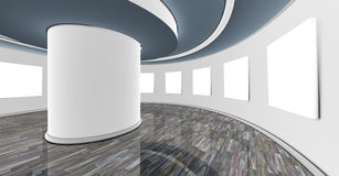 Interior showroom. 3d empty interior showroom and white frame Stock Photo