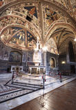 Interior of siena baptistery stock images