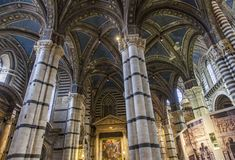 Interior of the Siena cathedral in Italy Royalty Free Stock Photos