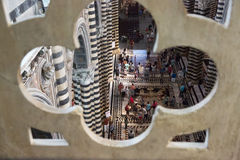 Interior of Siena Cathedral from the roof, Italy Stock Photography