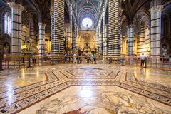 Interior of Siena Cathedral in Tuscany, Italy Royalty Free Stock Photos