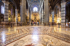 Interior of Siena Cathedral in Tuscany, Italy Stock Image