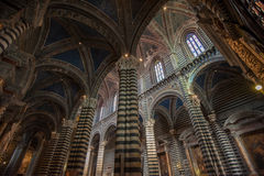Interior of Siena Duomo, Tuscany, Italy Stock Photos