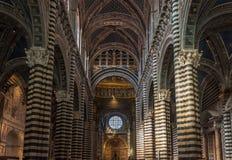 Interior of Siena Duomo, Tuscany, Italy Stock Image