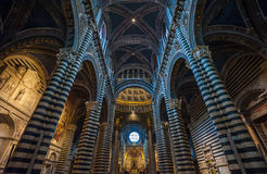Interior of Siena Duomo, Tuscany, Italy Stock Photo