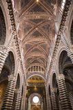 Interior of the Sienna Cathedral. In Tuscany Italy Royalty Free Stock Image