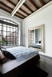 Interior sikt av sovrummet Royaltyfri Bild