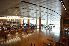 Interior of Singapore Changi Airport Stock Image