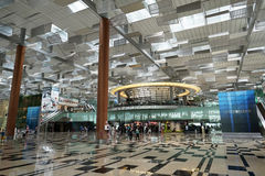 Interior of Singapore Changi Airport Royalty Free Stock Photo