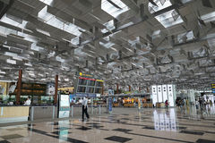 Interior of Singapore Changi Airport Royalty Free Stock Photography