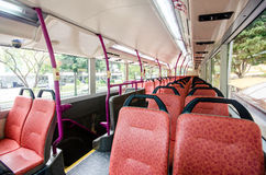 Interior of singapore city bus. Royalty Free Stock Images