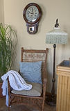 Interior Sitting Area with Antique Chair Royalty Free Stock Images