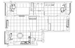 Interior sketch. Vector Stock Photos